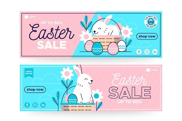 Płaski Transparent Wielkanocny Sprzedaż Darmowych Wektorów