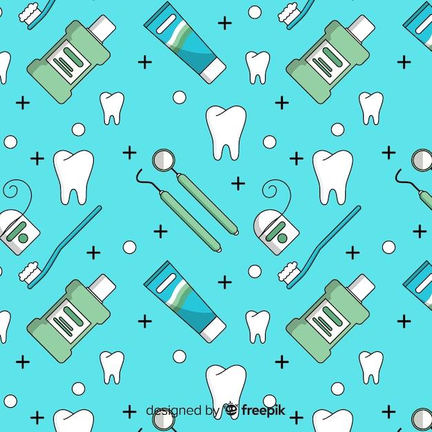 Płaski wzór dentysty Darmowych Wektorów