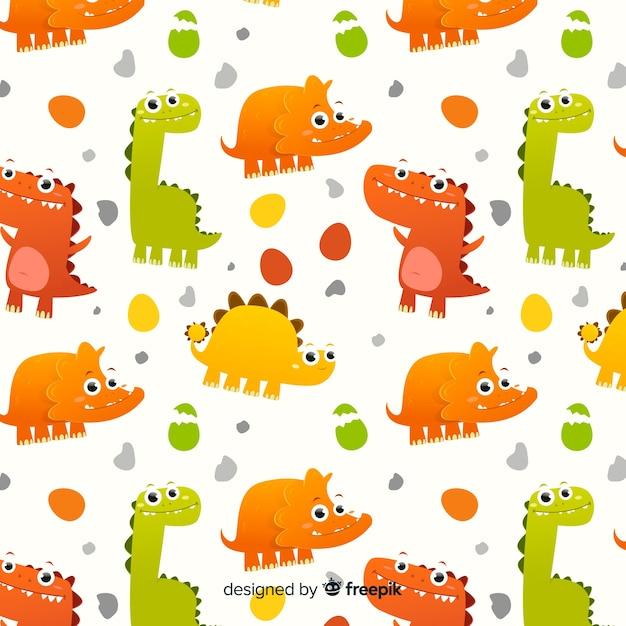 Płaski Wzór Dinozaura Darmowych Wektorów