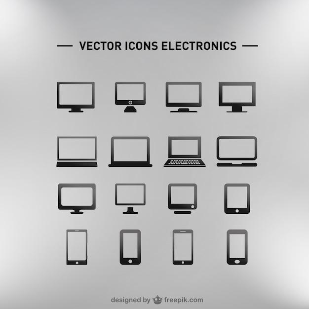 Płaski zestaw darmowe pobieranie elektronika Darmowych Wektorów