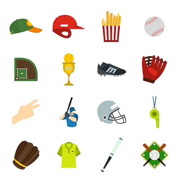 Płaskie Elementy Futbolu Amerykańskiego Dla Urządzeń Internetowych I Mobilnych Premium Wektorów