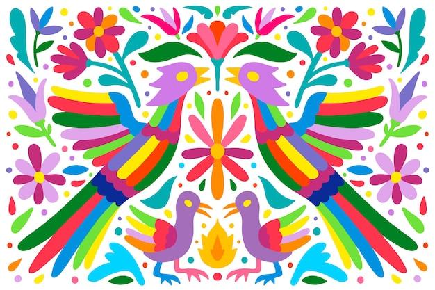 Płaskie Kolorowe Tło Meksykańskie Darmowych Wektorów