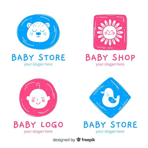 Płaskie logo dla niemowląt Darmowych Wektorów