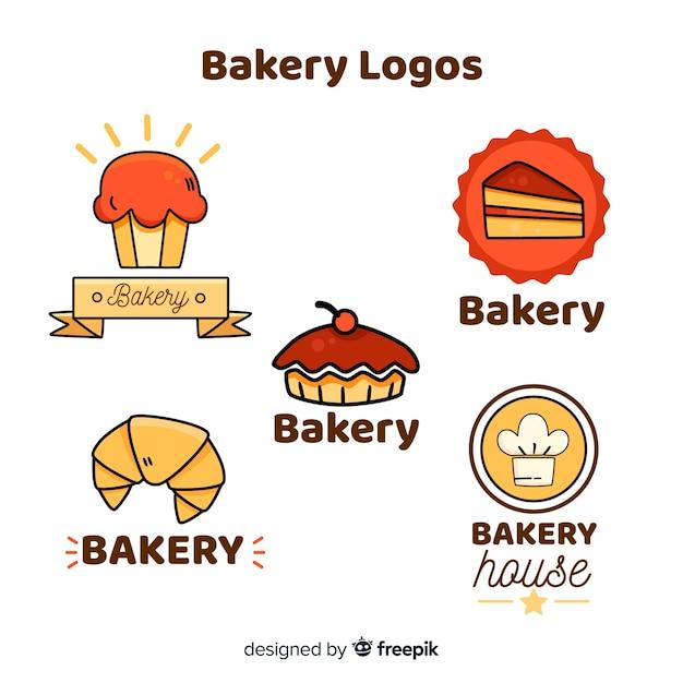 Płaskie logo piekarni Darmowych Wektorów
