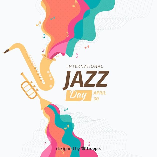Płaskie Międzynarodowe Tło Dzień Jazzu Darmowych Wektorów