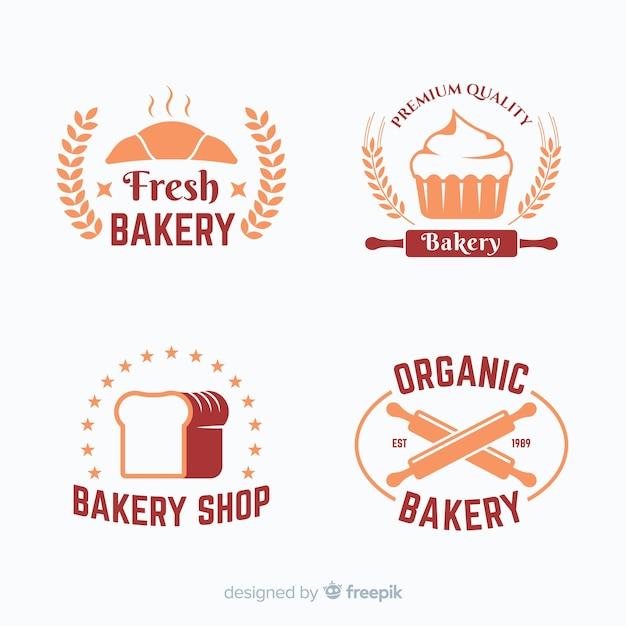 Płaskie opakowanie z logo piekarni Darmowych Wektorów