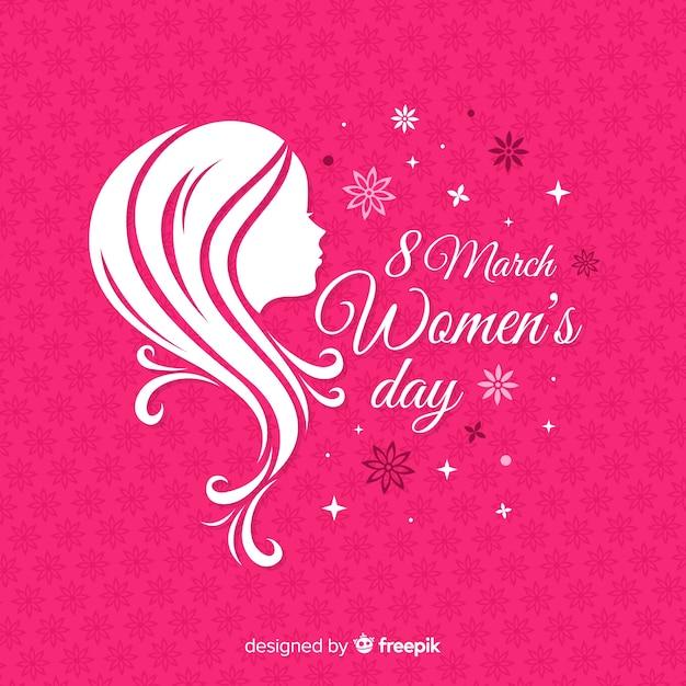 Płaskie Tło Dzień Kobiet Darmowych Wektorów