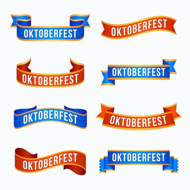 Płaskie Wstążki Festiwalu Oktoberfest Darmowych Wektorów