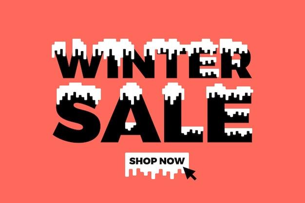 Płaskie zimowe sprzedaż tło Darmowych Wektorów