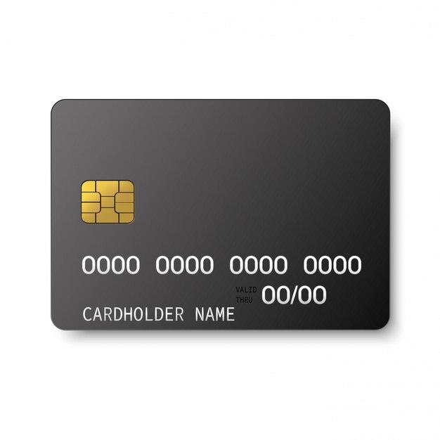 Plastikowa Karta Kredytowa Z Chipem Emv. Premium Wektorów