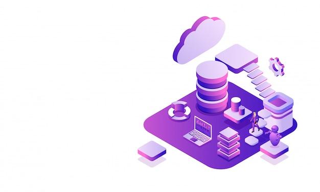 Platforma centrum danych. Premium Wektorów