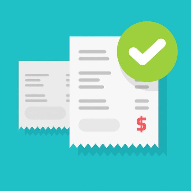 Płatność Rachunku Powodzenia Premium Wektorów