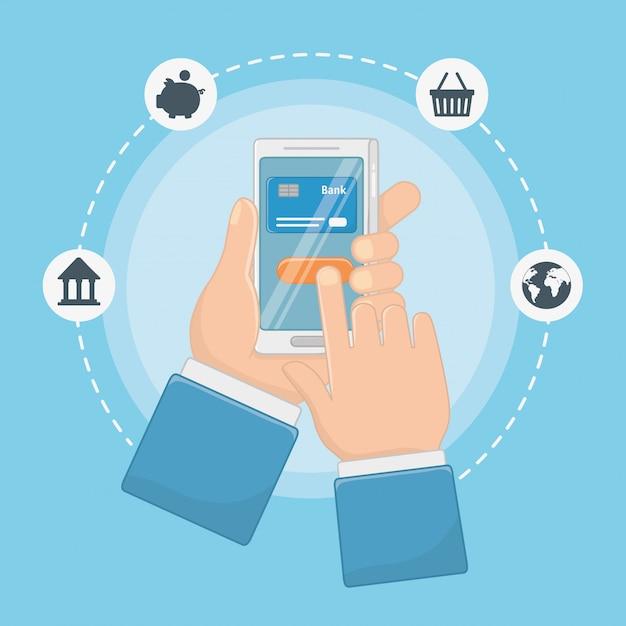 Płatności Online Zestaw Ikon Projektu Darmowych Wektorów