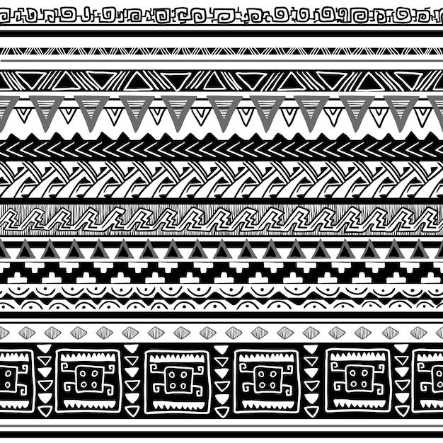 Plemienna tekstura Darmowych Wektorów