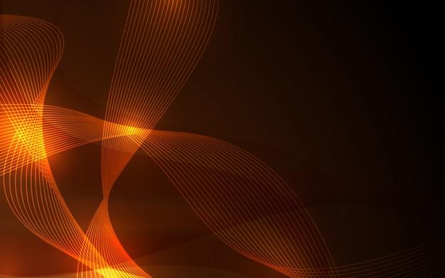 Płomień i złoty kolor tła Premium Wektorów
