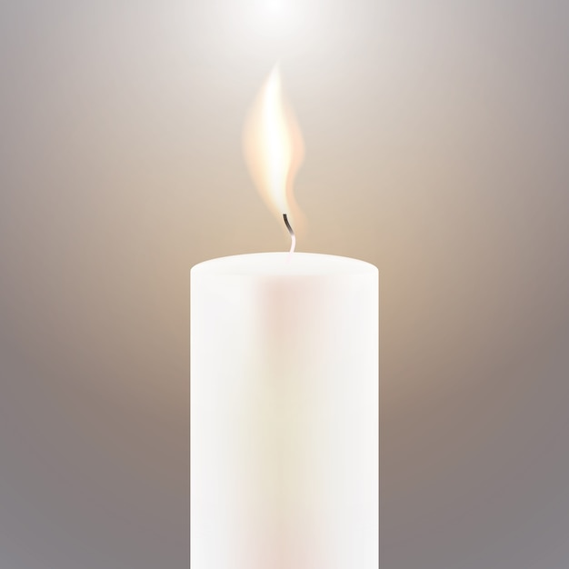 Płomień świecy. Premium Wektorów