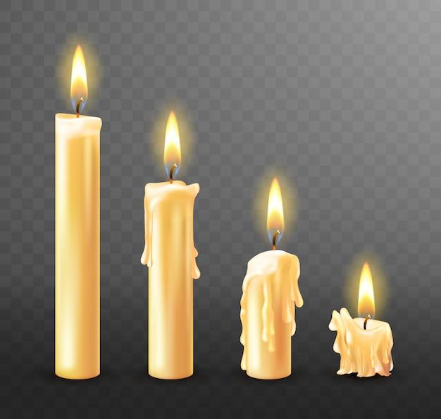 Płonące świece Ociekające Woskiem Darmowych Wektorów