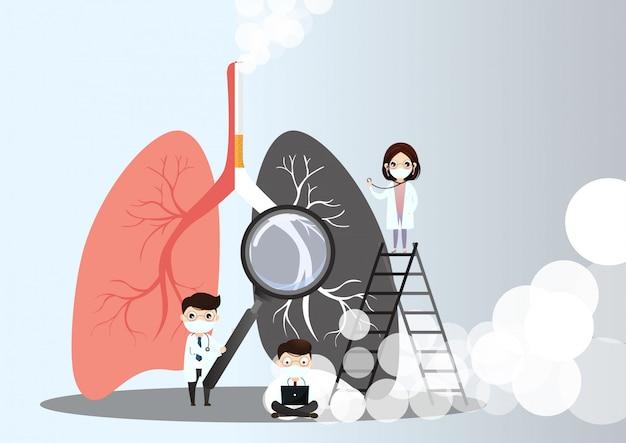 Płuca Premium Wektorów