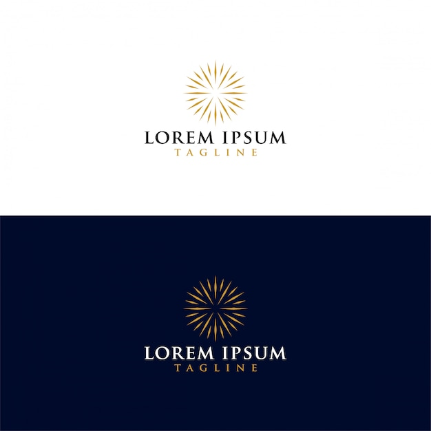 Pobierz Wektor Luksusowe Słońce Logo Premium Wektorów