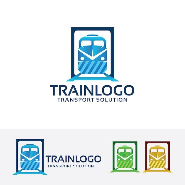 Pociąg Wektor Logo Szablon Premium Wektorów