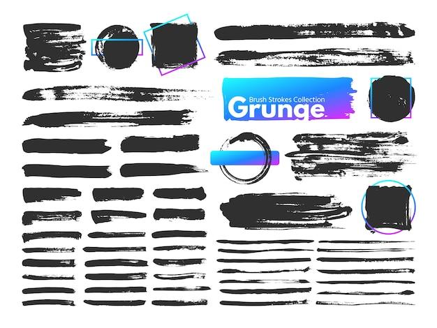 Pociągnięcia Pędzlem Grunge Premium Wektorów
