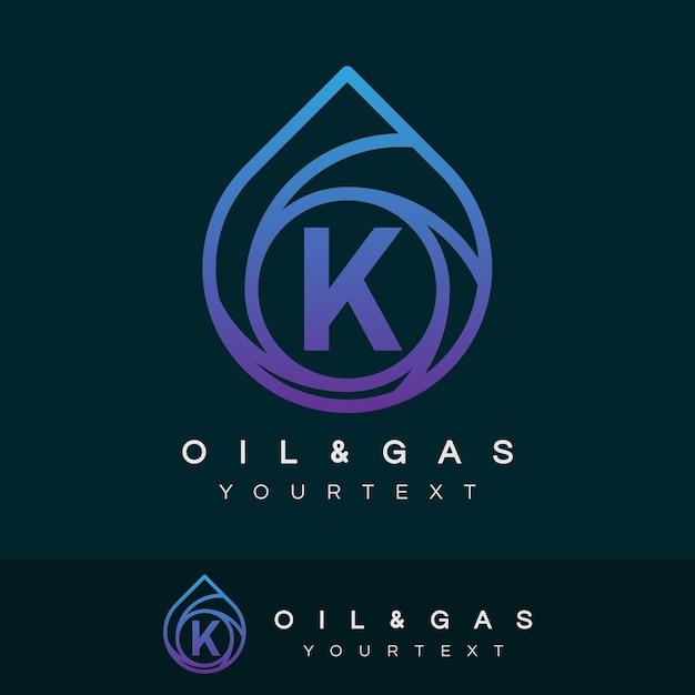 Początkowa Litera I Gaz Litera K Logo Projektu Wektor Premium