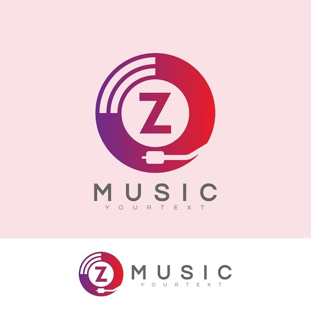 Początkowa Muzyka Litera Z Projekt Logo Wektor Premium Pobieranie