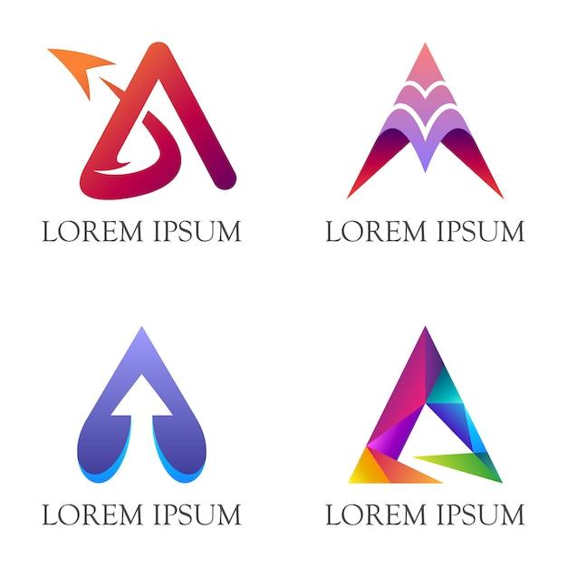 Początkowa litera a logo firmy Premium Wektorów
