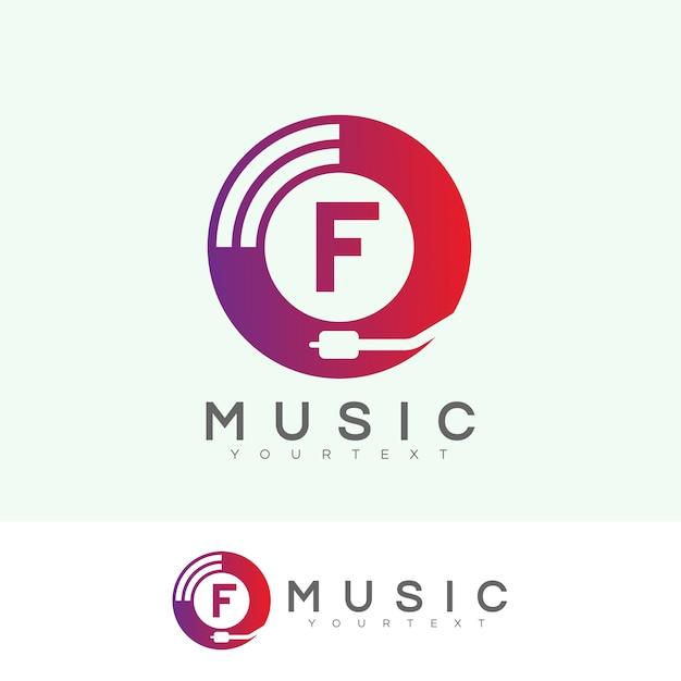 Początkowa Litera F Projektowanie Logo Premium Wektorów