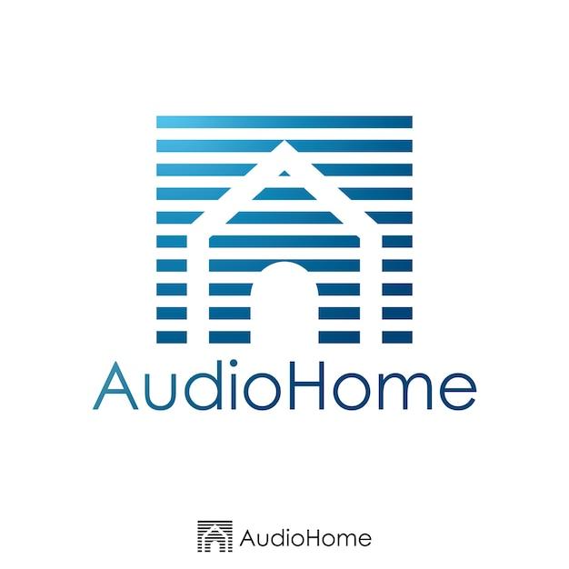 Początkowy Projekt Listu A I Domowego. Szablon Logo. Ilustracji Wektorowych. Premium Wektorów