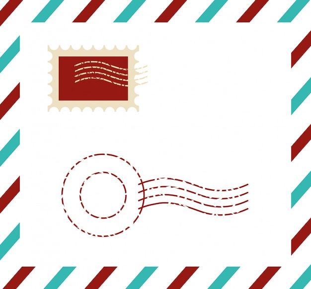 Pocztówka najwyższej jakości z pieczęcią Darmowych Wektorów