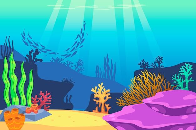 Pod Motywem Tapety Morskiej Darmowych Wektorów