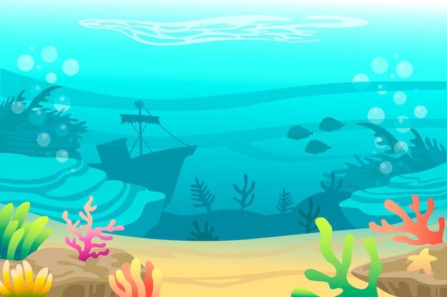 Pod Motywem Tła Morza Darmowych Wektorów