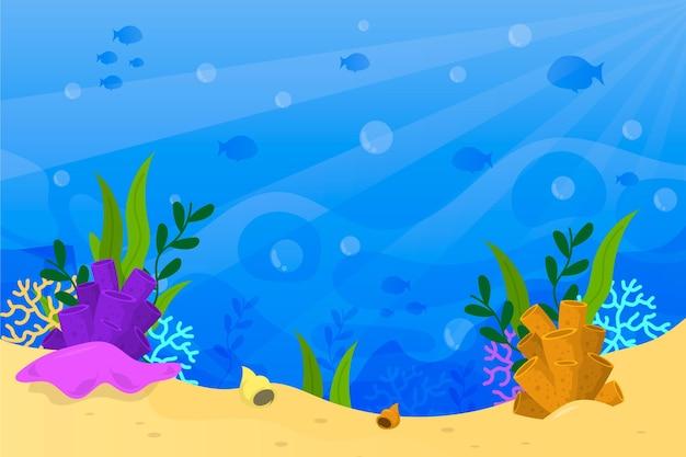 Pod Pojęciem Tła Morza Darmowych Wektorów