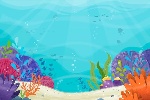 Pod Powierzchnią Morza Do Wideokonferencji Darmowych Wektorów