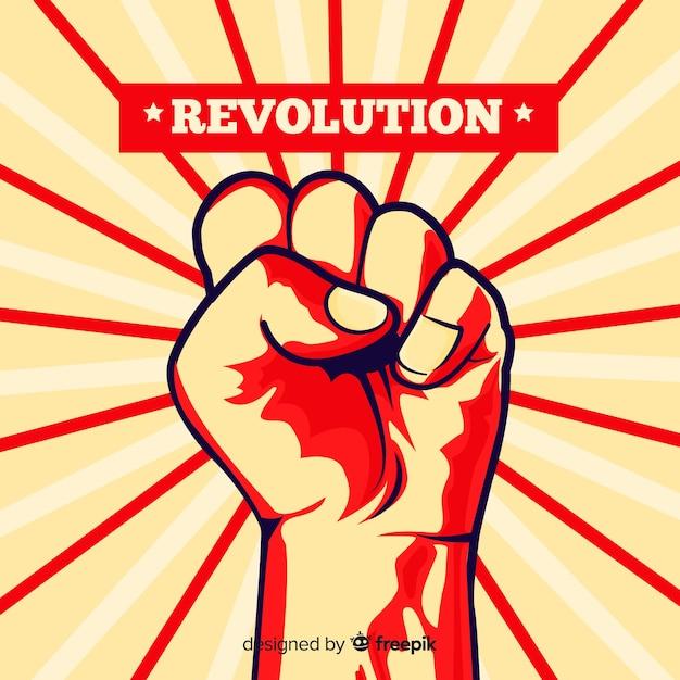 Podniesiona Pięść Do Rewolucji Darmowych Wektorów