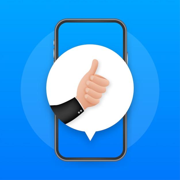 Podobnie Jak W Przypadku Opinii Mobilnych. Ekran Smartfona. Ikona Sieci. Post W Sieci Społecznościowej. Media Społecznościowe Takie Jak Ikona. Premium Wektorów