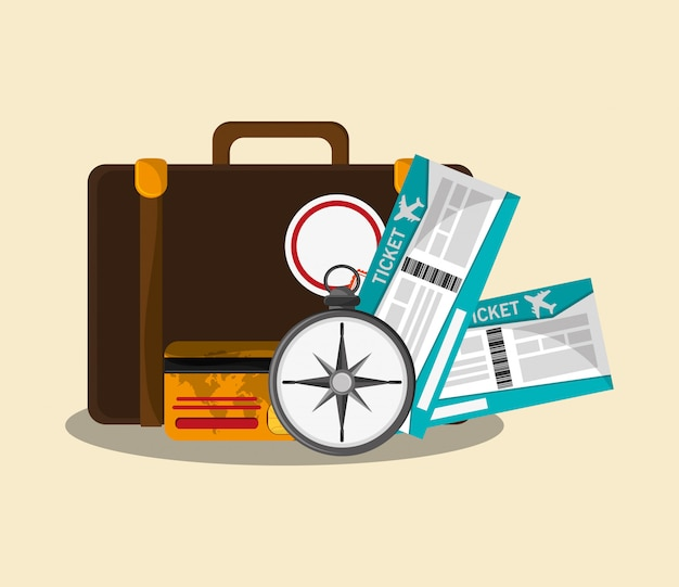 Podróż i turystyka Premium Wektorów