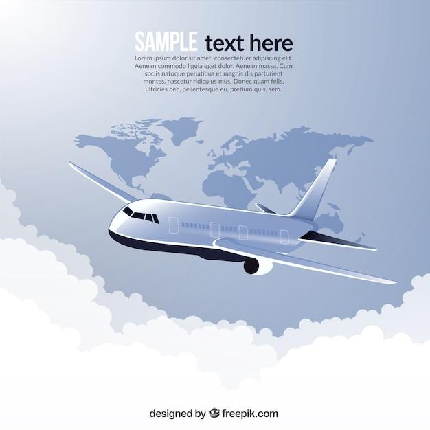 Podróż W Samolocie Na Całym świecie Darmowych Wektorów