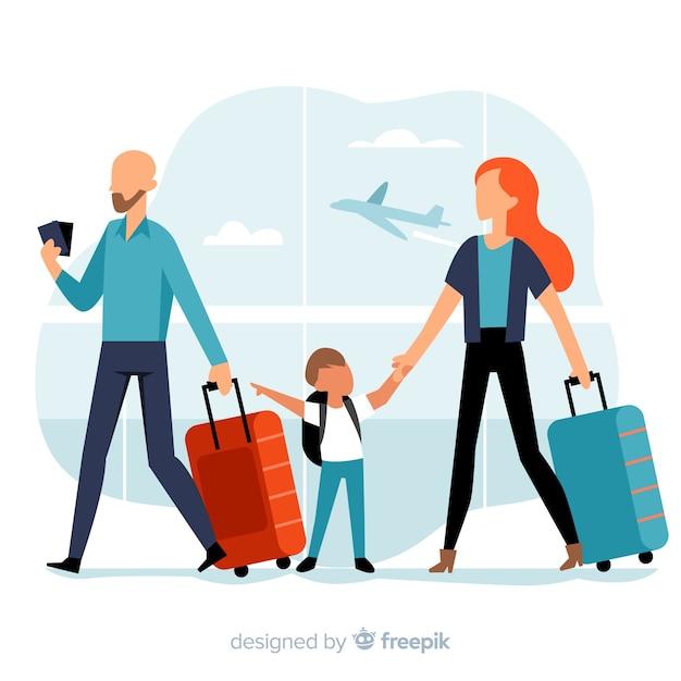 Podróże rodzinne Darmowych Wektorów