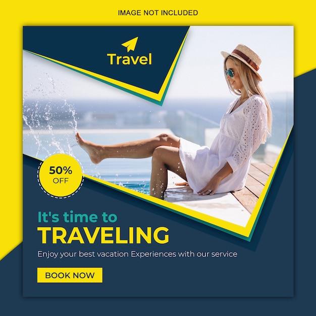 Podróżuj w mediach społecznościowych Premium Wektorów