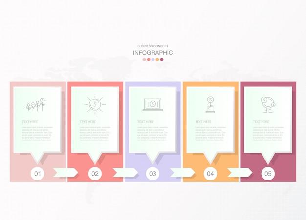 Podstawowe Infografiki Dla Obecnej Koncepcji Biznesowej. Elementy Abstrakcyjne, 8 Opcji. Premium Wektorów