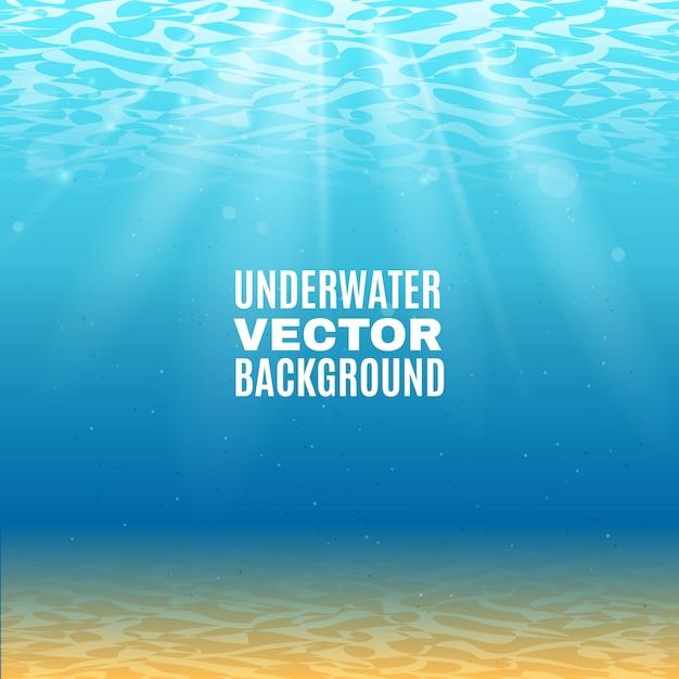 Podwodne tło wektor Darmowych Wektorów
