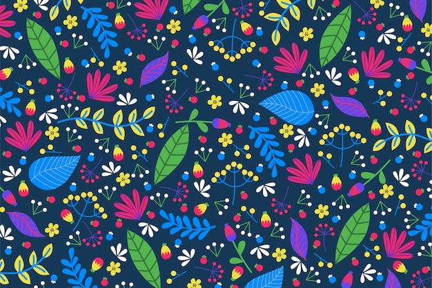 Pojęcie Kolorowy Egzotyczny Kwiecisty Tło Darmowych Wektorów
