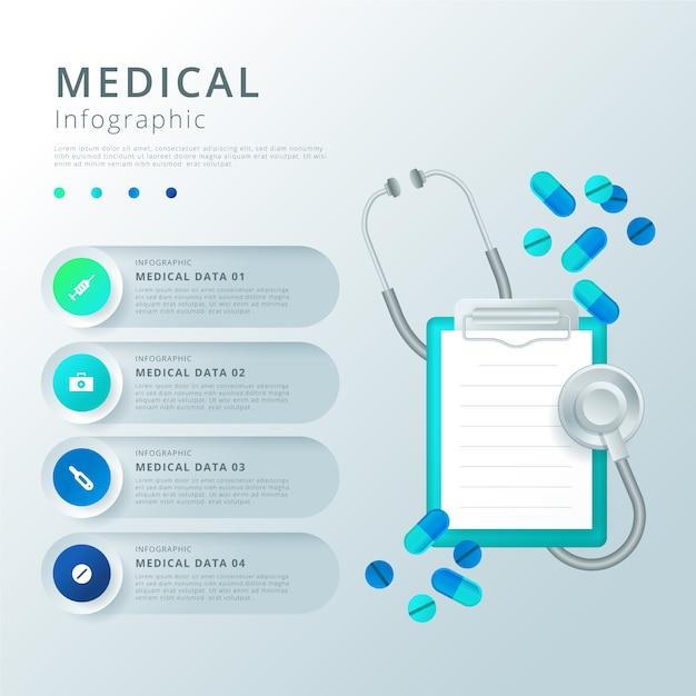 Pojęcie Medyczne Infographic Darmowych Wektorów