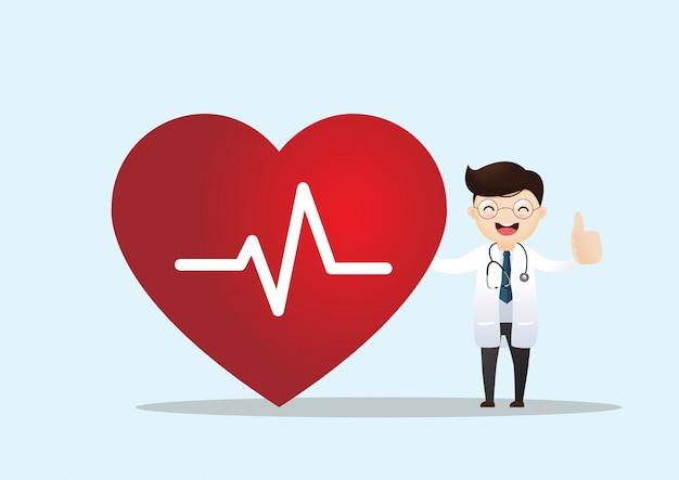 Pojęcie Opieki Zdrowotnej I Kardiologii Premium Wektorów