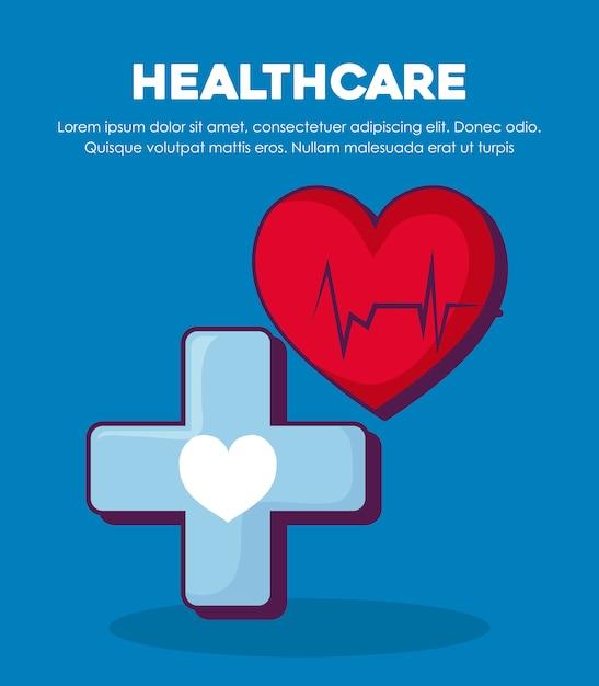 Pojęcie opieki zdrowotnej Darmowych Wektorów