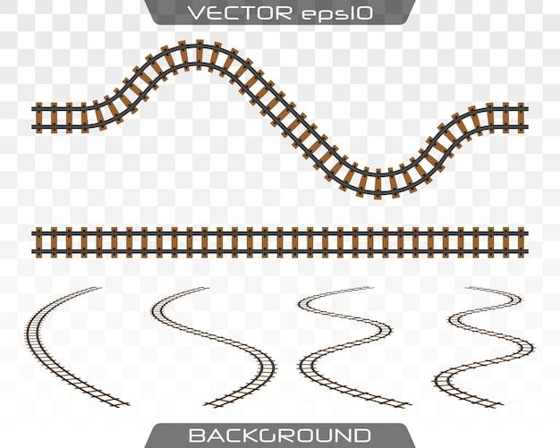 Pojęcie transportu kolejowego, metra, kolei. Premium Wektorów