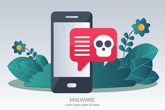 Pojęcie Wirusa, Piractwa, Hakowania I Bezpieczeństwa Premium Wektorów