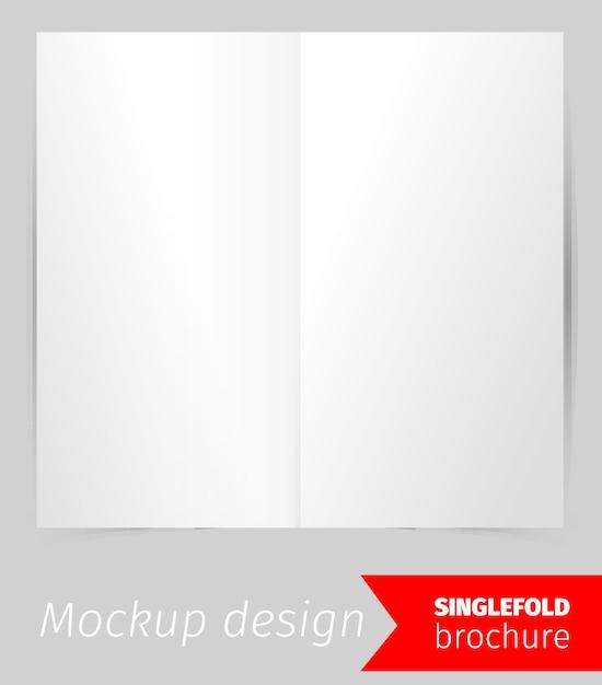 Pojedynczy projekt makiety broszury Darmowych Wektorów